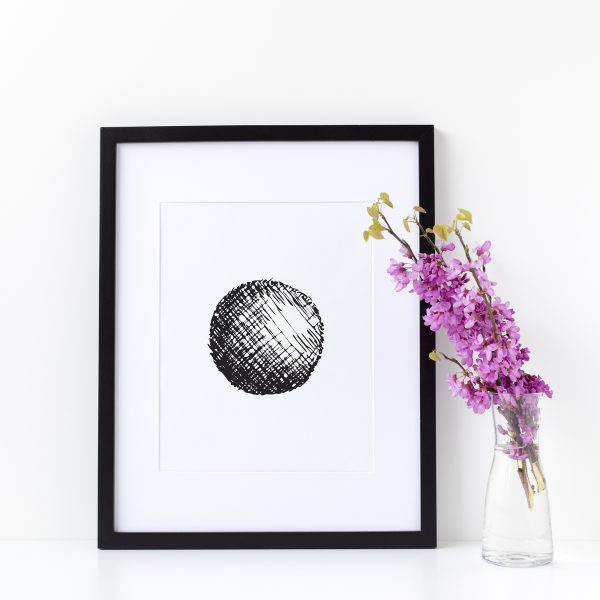 Illustration Art Print Unframed Titled Thy Circle 3 | By Adelaide Abstract Artist Charlie Albright | Moments by Charlie Blog - Online Shop - Creative Freelance Services | Adelaide, South Australia