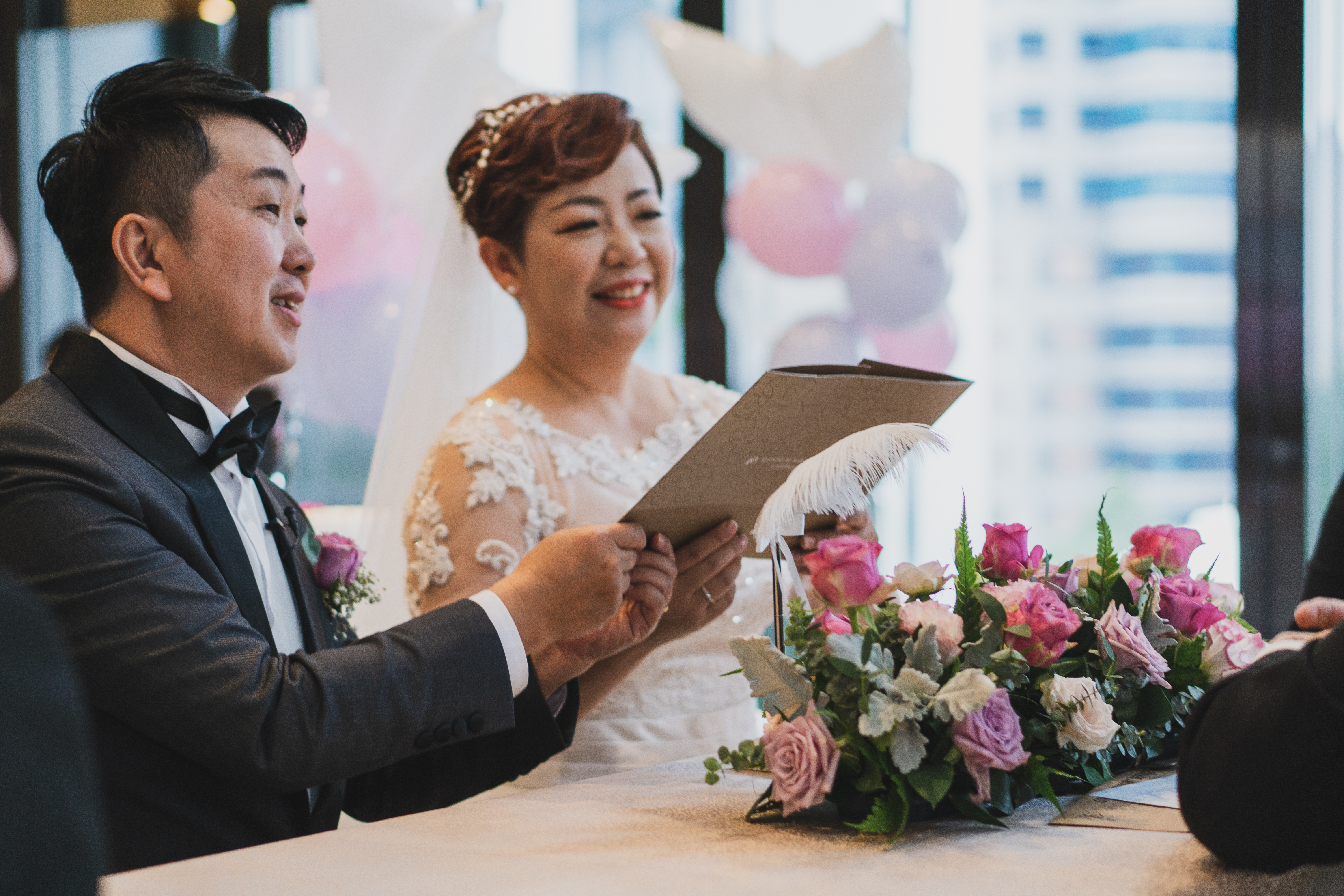 March in and march out at a wedding in Sofitel City Centre Hotel at Tanjong Pagar