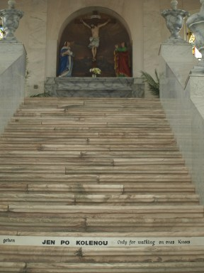 ... could hide a marble beauty, the Sacred Stairs.