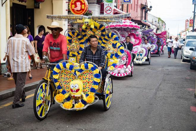 Malacca and its people-thrishaw-momenst of yugen