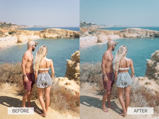 Before and after-Europe-Algarve