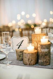decoración mesas invierno boda