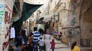 A community of African Muslims has lived for generations in two former prison buildings right next to the Temple Mount. Today, it numbers 350 staunchly Palestinian members (2014)