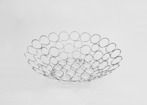 Silver Circle Fruit Bowl 1