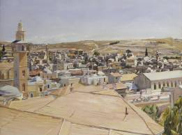 Jerusalem, Looking to Mount Scopus 1925 by David Bomberg 1890-1957