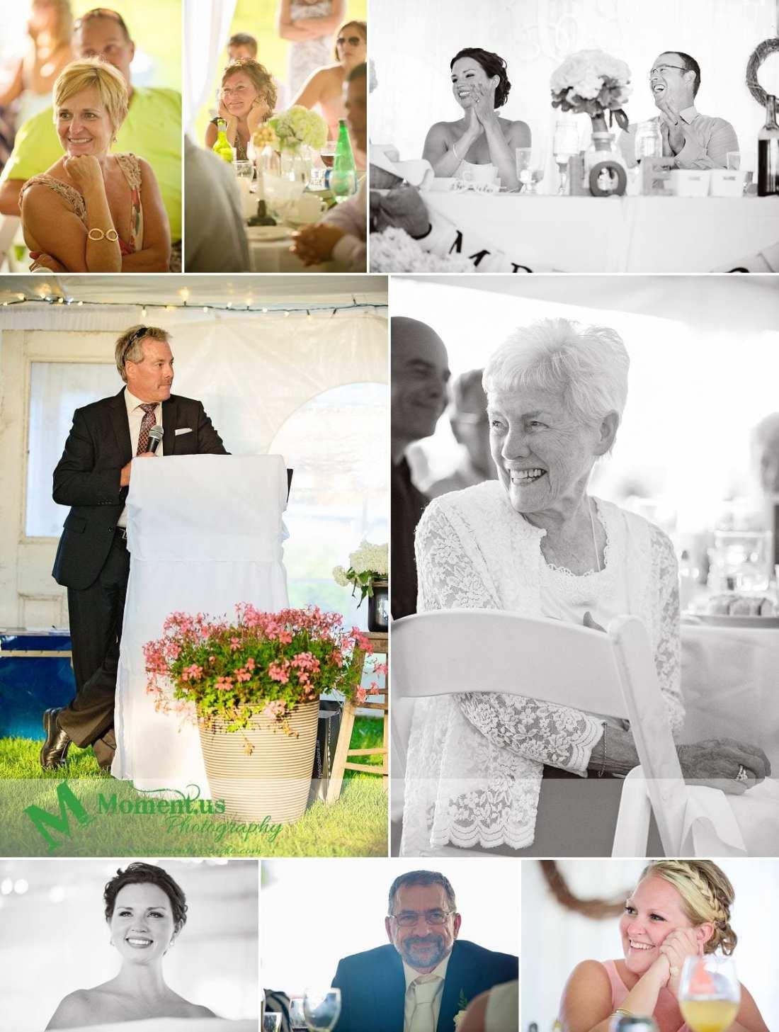 Outdoor Cornwall Wedding - father of groom giving speech