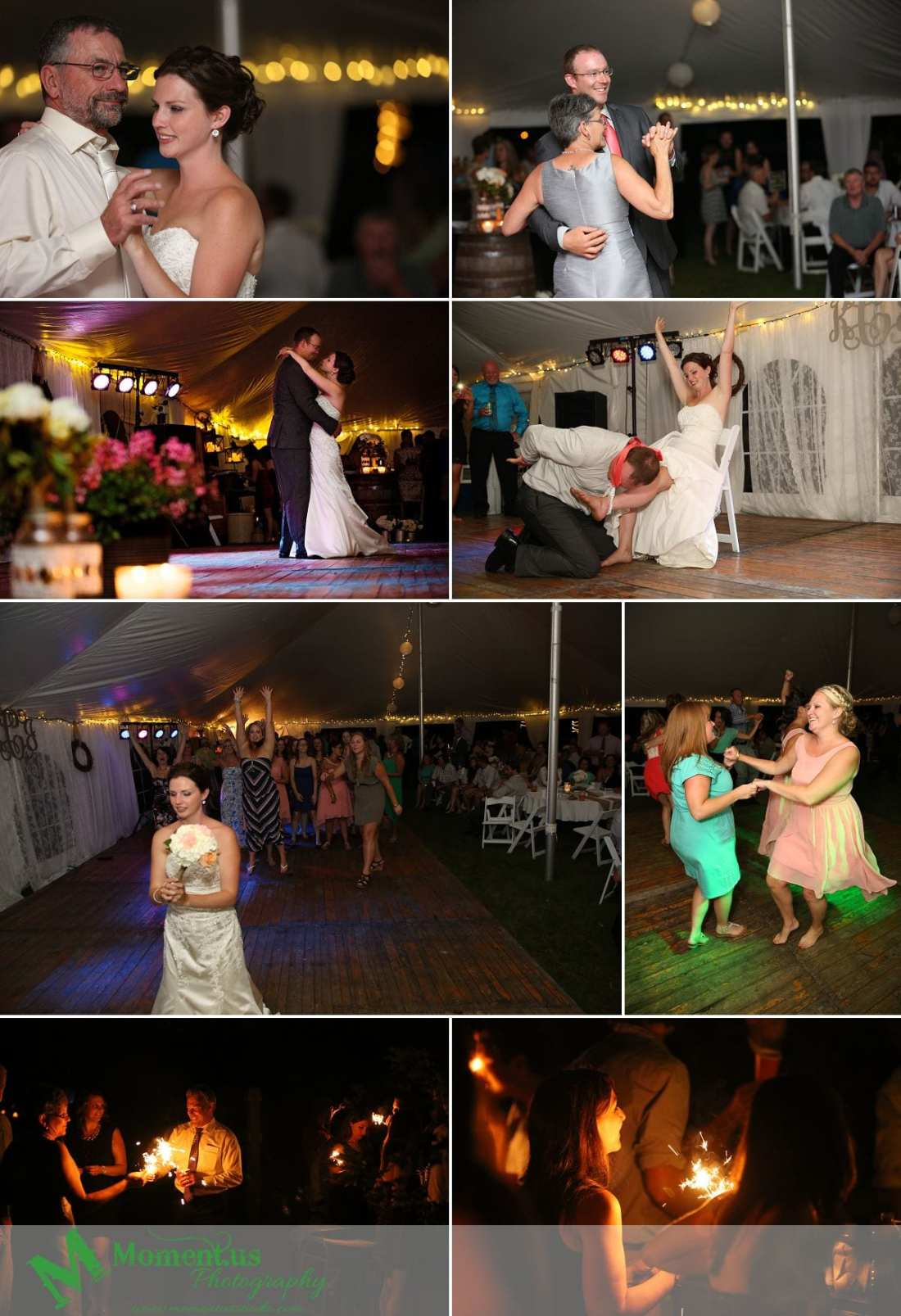 Outdoor Cornwall Wedding - night time sparklers