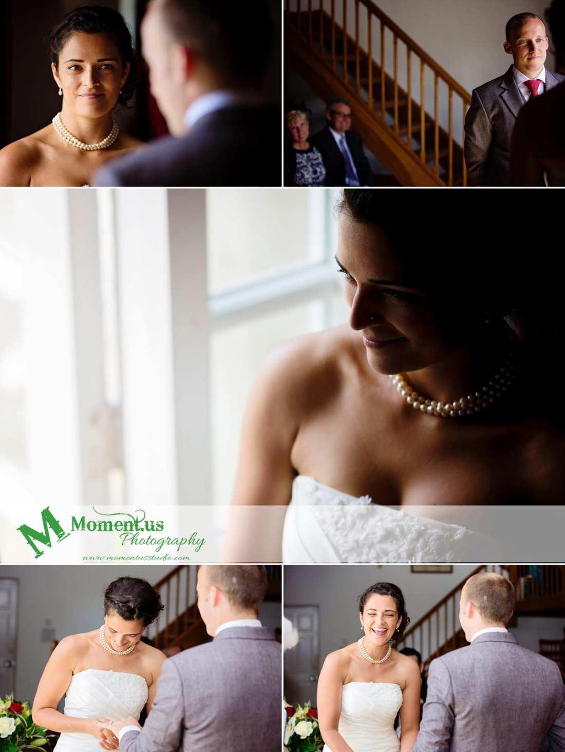 Fort Belan Wedding - bride in side window light