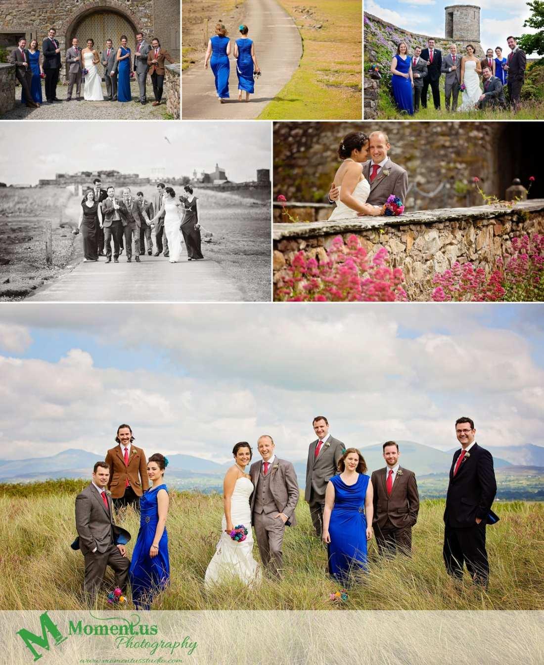 Fort Belan Wedding - wedding part outside fort