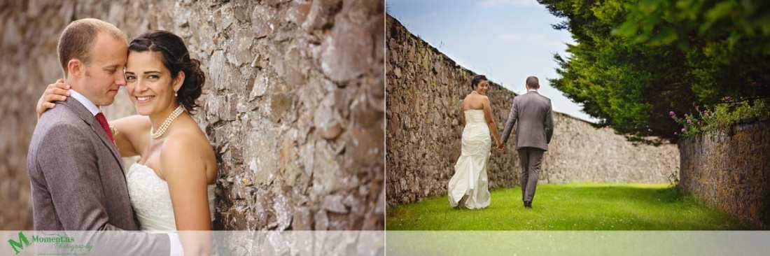 Fort Belan Wedding - bride looking over shoulder