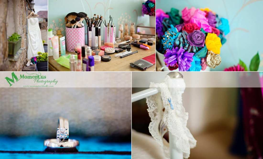 Fort Belan Wedding - origami bouquet