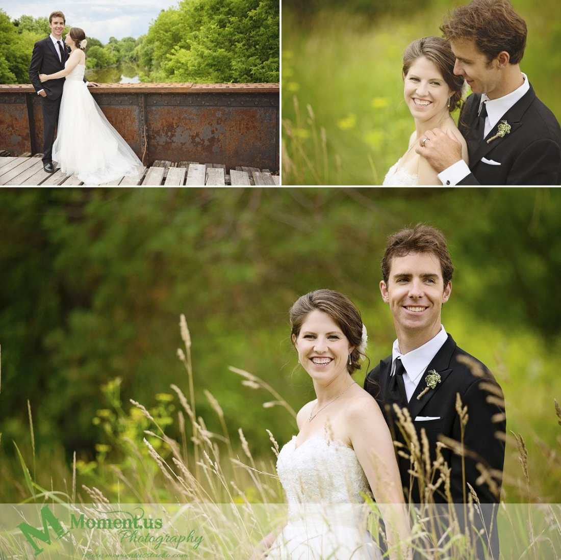 Williamstown Country Wedding - bride and groom on Peanut Line bridge