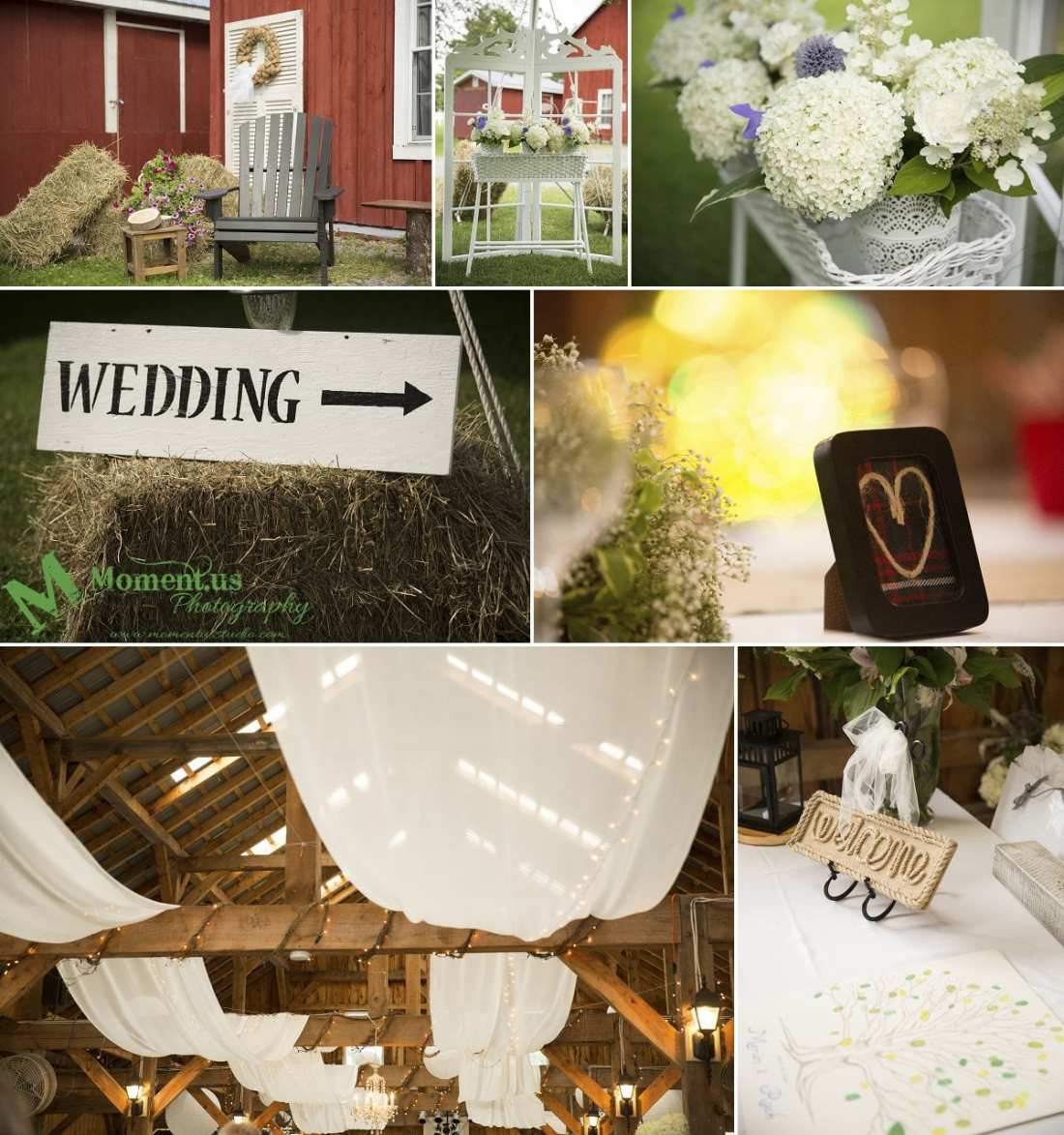 Williamstown Country Wedding - inside the barn