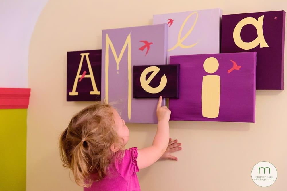 touching name painting