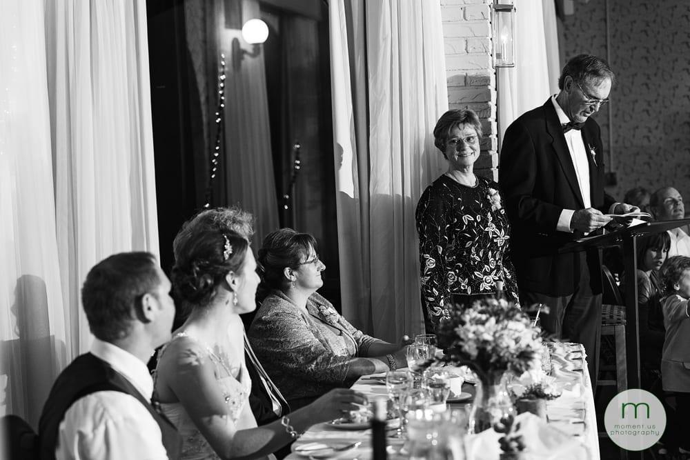 groom's mother looking at groom