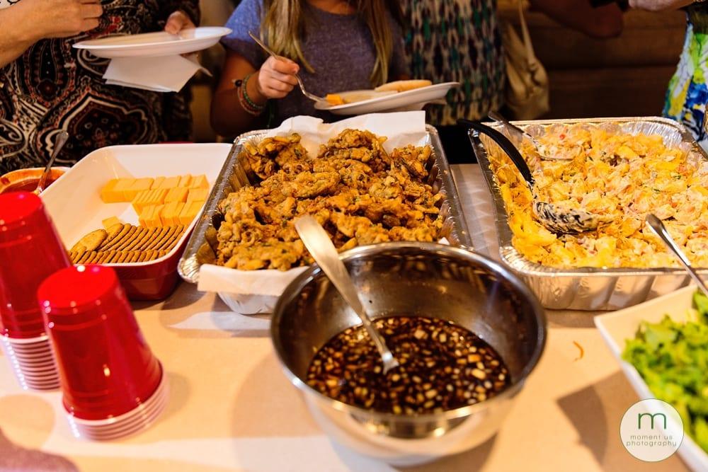 food at mehndi party