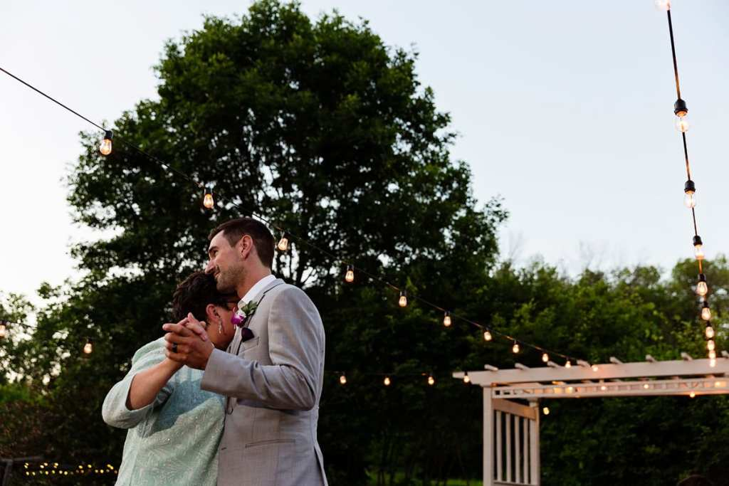 Mother son dance at Intimate Strathmere Wedding