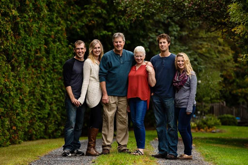 casual family portraits in rural ontario family shoot