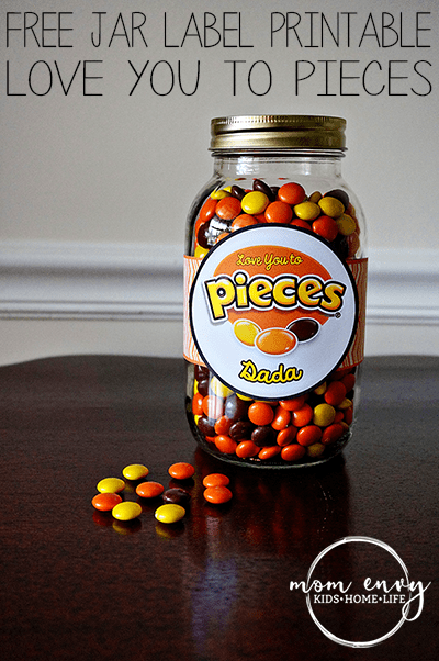 reeses pieces mason jar label free printable mom envy
