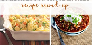 20 Recipes for Those in Need. Perfect for: people who have lost a loved one, new parents, deployment, moving, illness, etc. Vegetarian ideas are included. Check the round-up out at Mom Envy #simplerecipes #casseroles #easydinners #dinnerrecipes