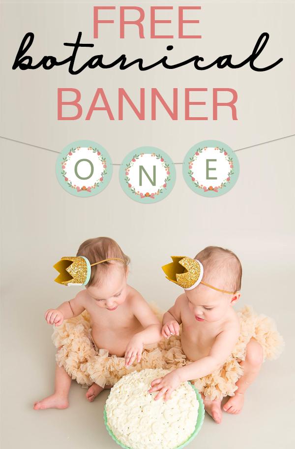 Free Botanical Banner - Anthropologie Inspired Party Banner that is FREE to print. Perfect boho baby shower decor, wedding shower decor, nursery decor, or photo shoot banner. #boho #girlnursery