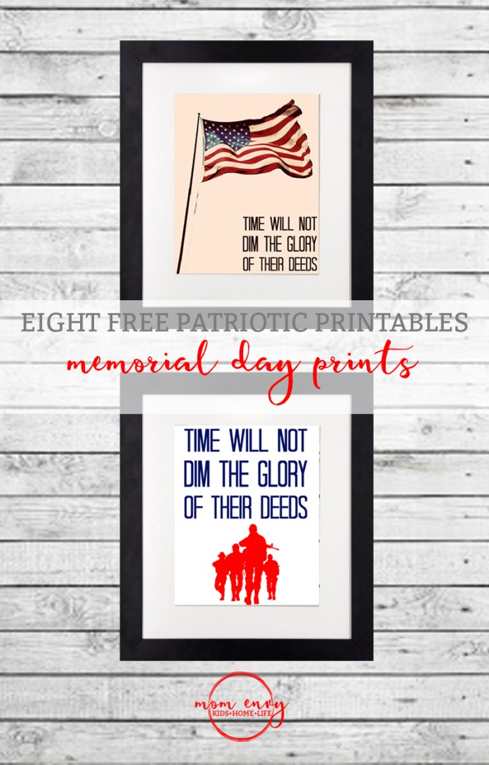 free patriotic printables memorial day prints mom envy