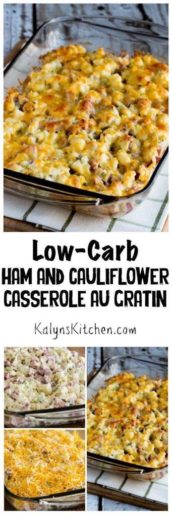 Leftover Ham Recipes Kaylns Kitchen Low Carb Ham and Cauliflower Casserole Au Gratin