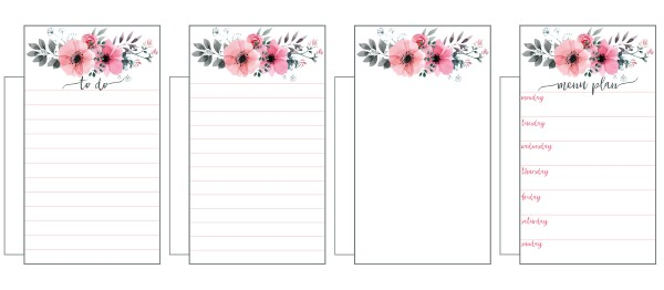 Free printable floral planner inserts and clips mom envy