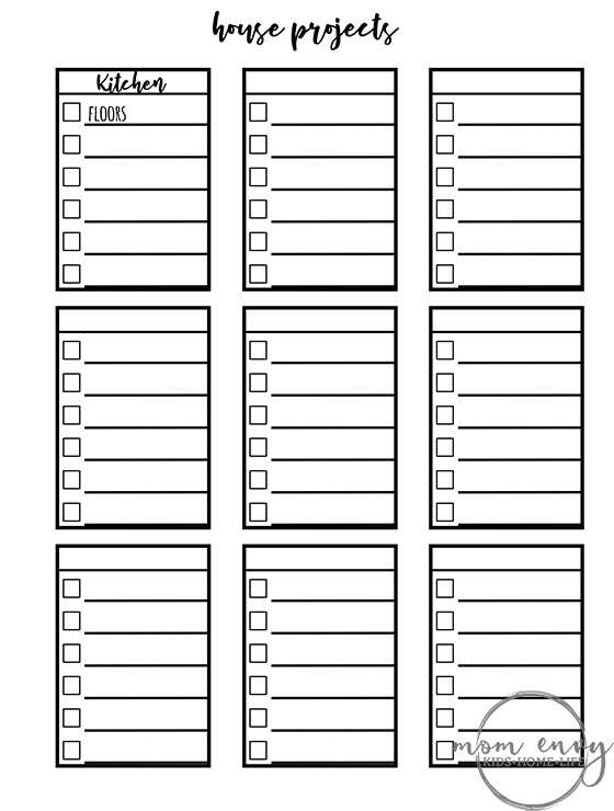 bullet journal inspired free printables