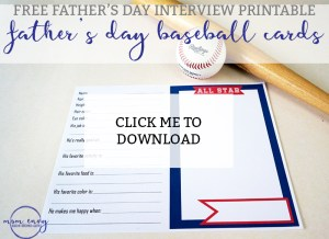 Father's Day Interview Printable from Mom Envy
