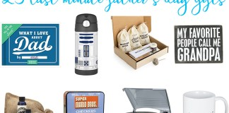 Last Minute Father's Day Gifts from Mom Envy. Check out this list of 25 Father's Day Gift ideas that can all be ordered with Amazon prime. Great gift ideas for Dads and Grandpas.