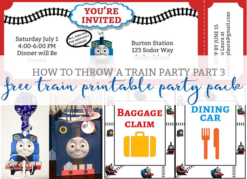 free train party printables free