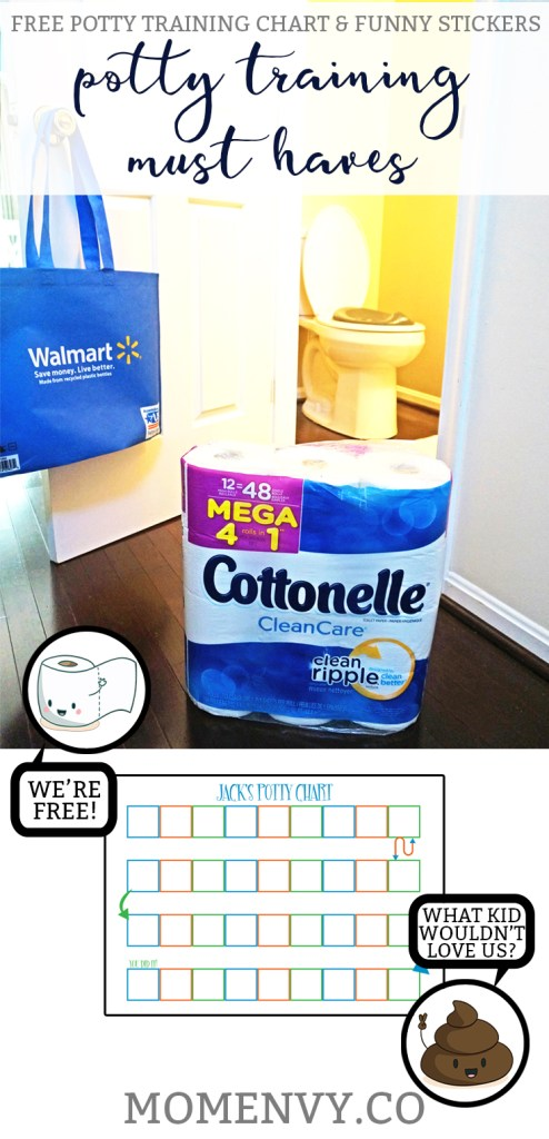 #sponsored Potty Training can be difficult, time consuming, and messy. (gross!) Learn about why Cottonelle Mega Rolls are on my must-have list for potty training. Grab a free printable potty rewards chart and free potty stickers while you're there.