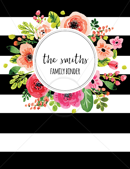 letter size floral bw background planner coverwm