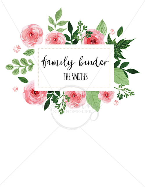 Letter Size Floral White Background Planner Coverwm Mom Envy