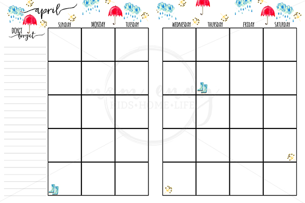 Happy Planner Calendar Printables : Free monthly planner inserts family binder printables