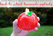 Easy Homemade Poptart recipe for Back to School. Shaped like apples. Fill the poptarts with a filling of your choice. Easy breakfast for kids. Easy breakfast recipe. Brunch recipe. Home made poptart recipe.