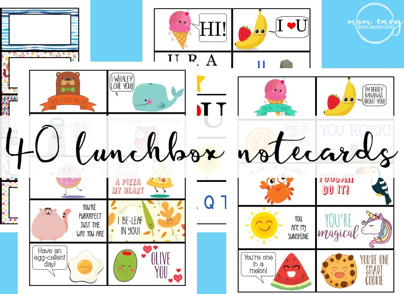 free lunchbox notes 40 free printable lunch note cards bring a little magic to - Printable Note Cards
