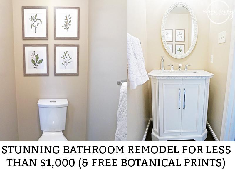 Inexpensive Bathroom Remodel Free Botanical Prints Delectable Free Bathroom Remodel