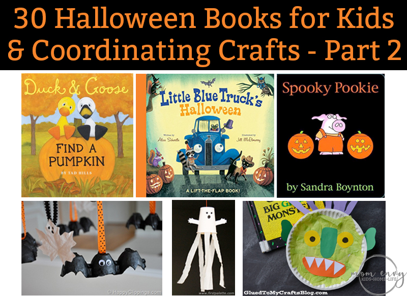 30 halloween books for kids and coordinating crafts part 2 of 30 great books for - Halloween Printable Crafts For Kids 2