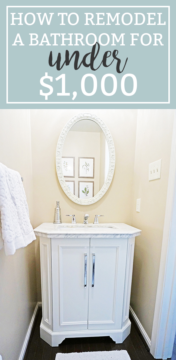 Inexpensive Bathroom Remodel. Find Out How We Inexpensively Made Over Our  Bathroom For Less Than $1,000. It Was A Cheap Bathroom Makeover.