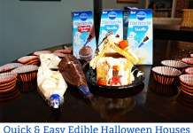 Edible Halloween Houses using Pillsbury Frosting Bags. Make Halloween fun quick and easy this year. Build memories with your children (and their friends!) this quick and easy Halloween activity. This Halloween Recipe for Kids is perfect to have some Halloween fun without all of the mess.
