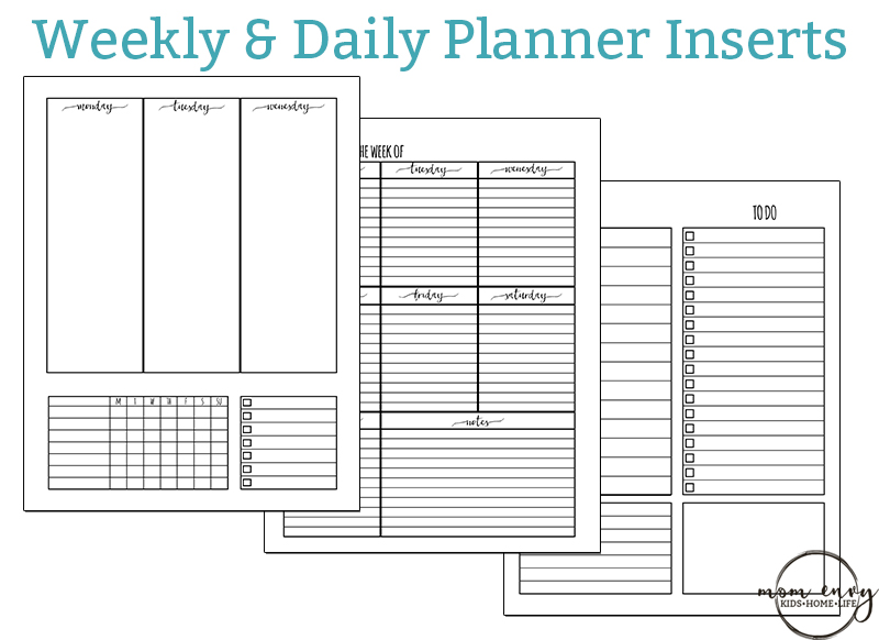 Free Weekly Planner Inserts And Free Daily Planner Inserts. Download Free  Happy Planner Inserts,  Free Daily Planner Download