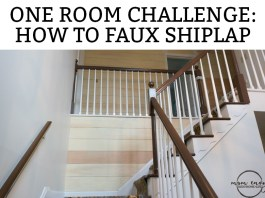 How to faux shiplap. Learn how to faux shiplap an entry. See how a 1980's entry gets farmhouse style.