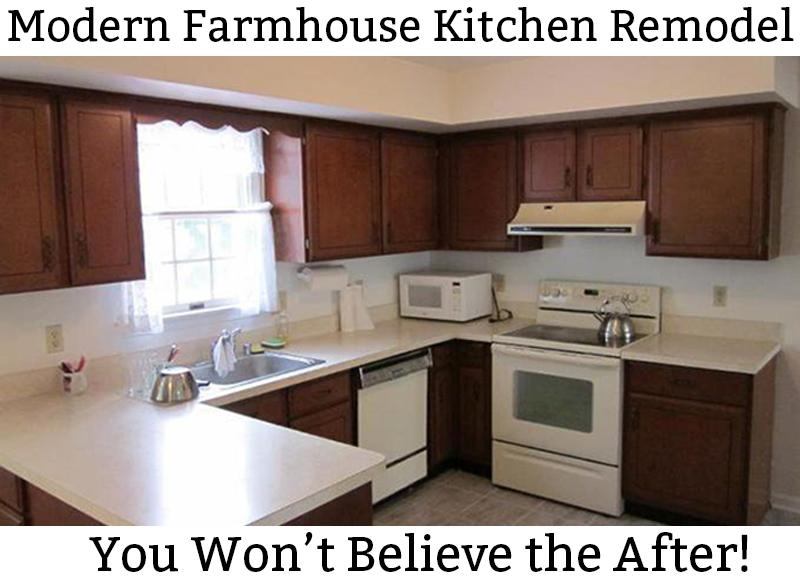 Modern Farmhouse Kitchen Remodel Reveal - 80\'s Kitchen ...