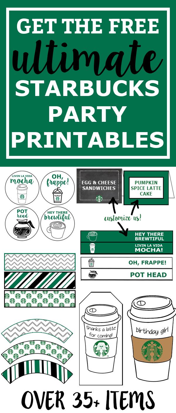 Free Starbucks Birthday Printable Party Pack - Mom Envy