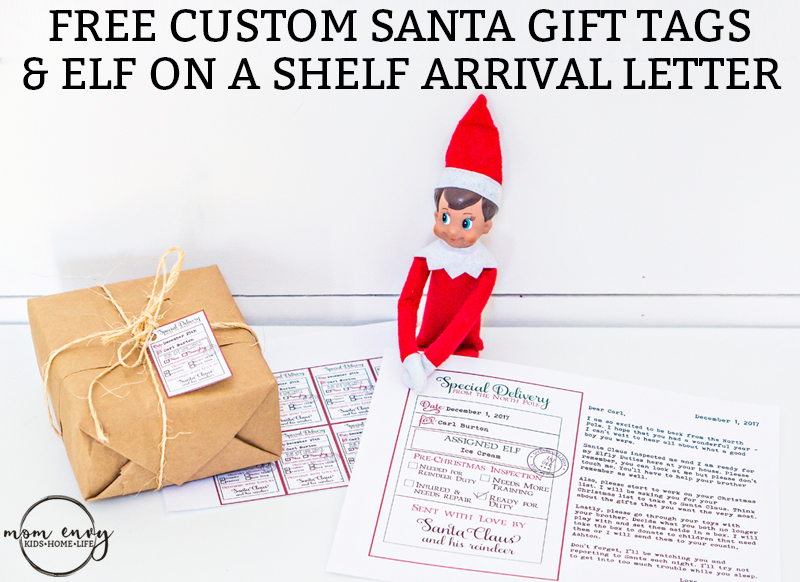 Free custom santa gift tags and elf arrival letter 3 free printables free custom santa gift tags and elf on a shelf arrival letter free printable christmas spiritdancerdesigns