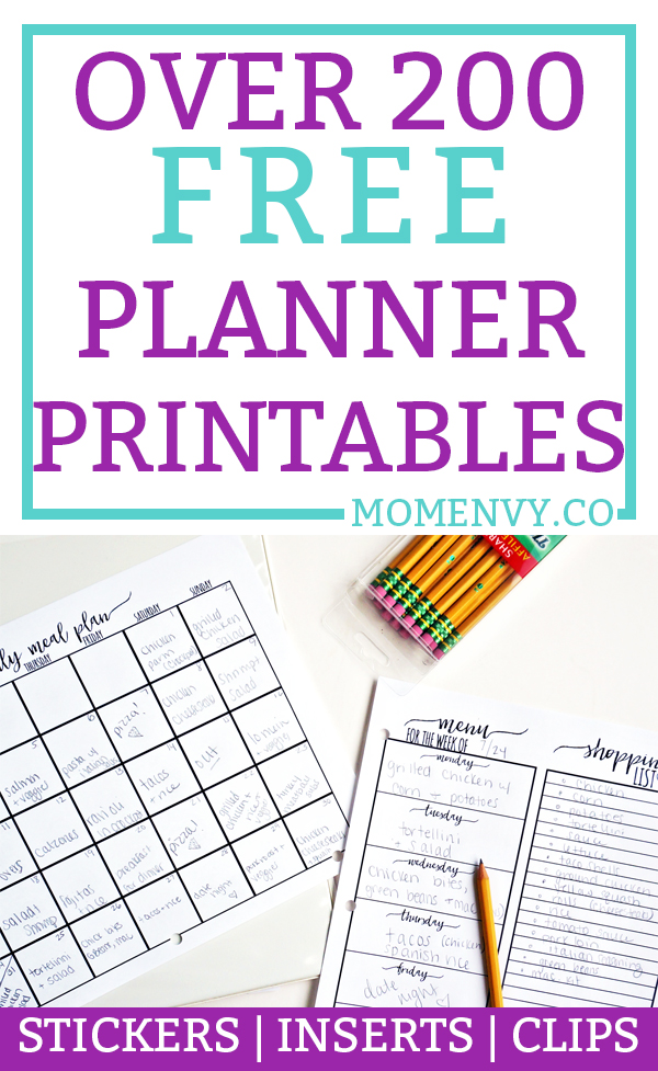 Free Planner Printables. Over 200 FREE planner printables to fit any size planner. Planner tutorials, free planner stickers, free planner inserts, and free planner dividers. Plus, free paper clips! Download them all for free today! #happyplanner #planners #plannerlove #freeplannerprintables #planning