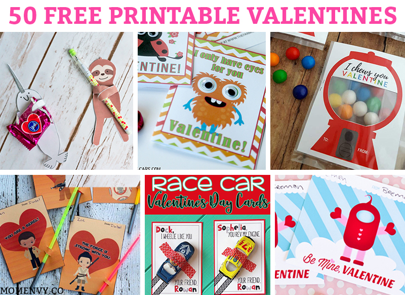 free printable valentines 50 free valentine printables for kids let your kids give our