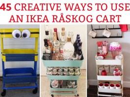 45 Creative Ways to Use a RÅSKOG Ikea Cart. Get organized this year with one of these amazing ideas how using a 3 tier raskog cart. #raskog #raskogcart #organization #ikea